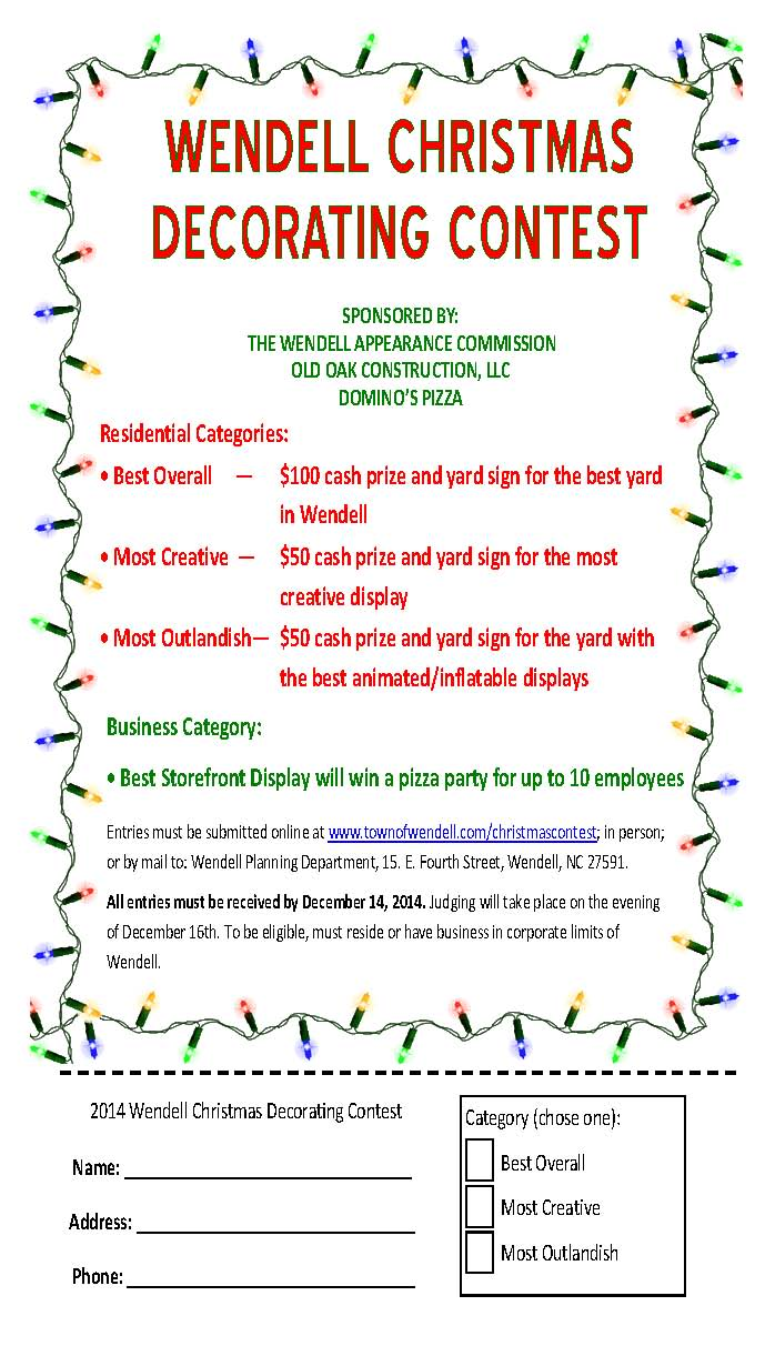 Christmas Tree Decorating Contest Categories