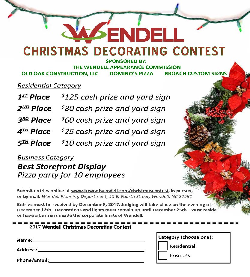 christmas decorating contest - Christmas Decorating Contest