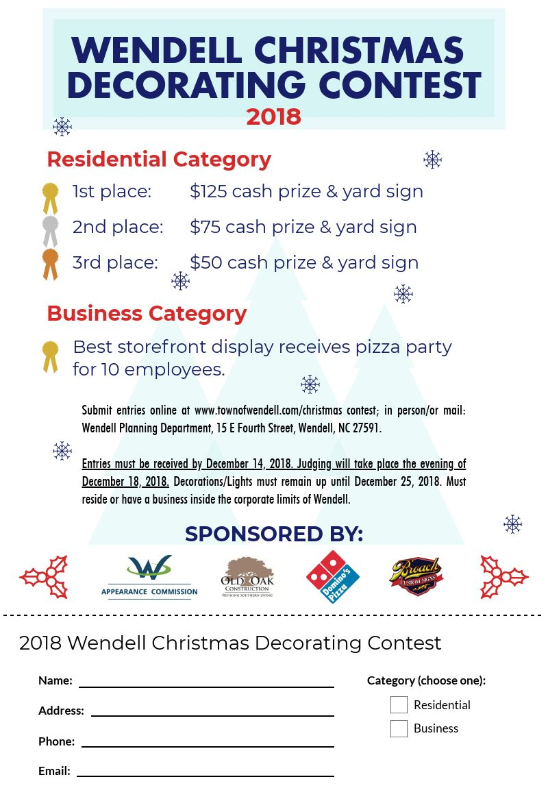 Images christmas decorating contest Blue Christmas Decorating Contest Orange Street News Christmas Decorating Contest Town Of Wendell