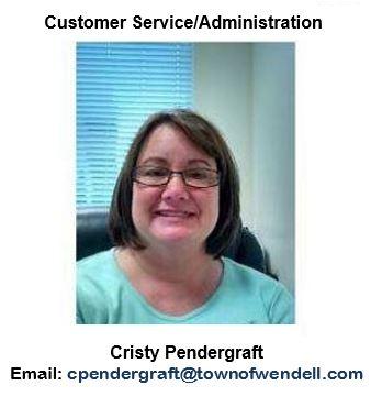 Cristy Pendergraft, Customer Service/Administration