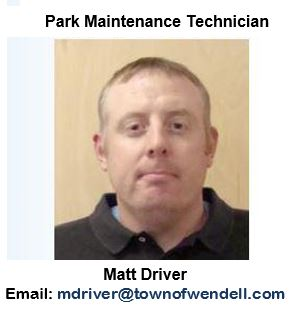 Matt Driver, Park Maintenance Technician