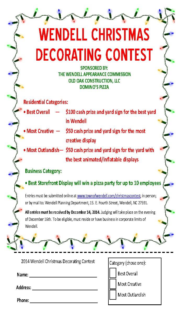 2014 Wendell Christmas Decorating Contest