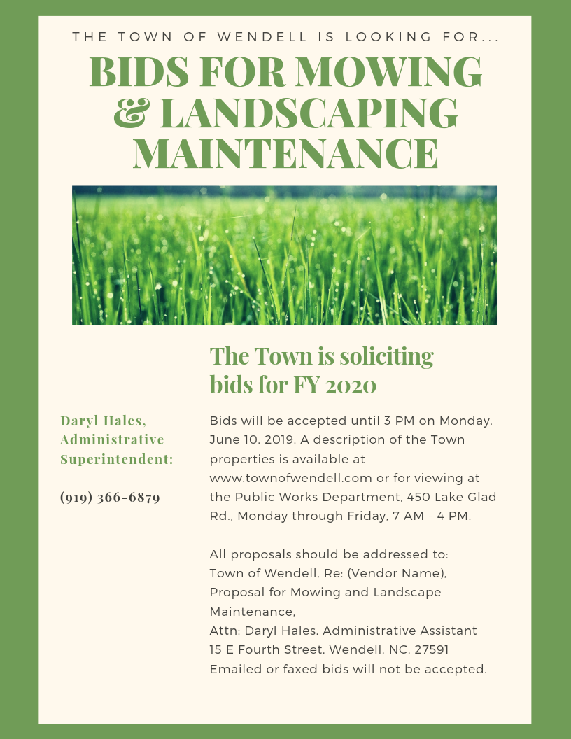 Bid Landscaping Services